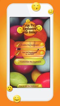 Cute Pics Keyboard with Smiley screenshot 2