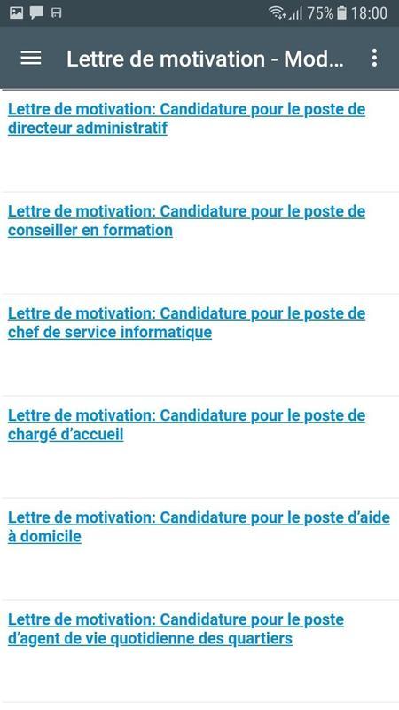 Lettre de motivation et cv apk download free education app for lettre de motivation et cv apk screenshot altavistaventures Choice Image