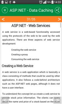 Asp.net tutorial apk screenshot