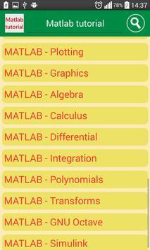 matlab tutorial apk screenshot