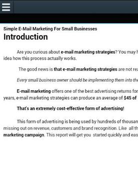 Small Business Marketing Ebook apk screenshot