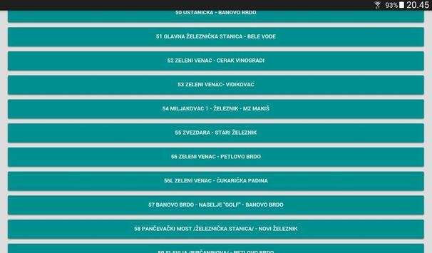 GSP Beograd - red vožnje screenshot 1