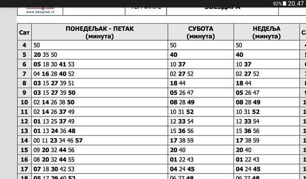 GSP Beograd - red vožnje screenshot 2