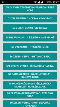 GSP Beograd - red vožnje screenshot 4