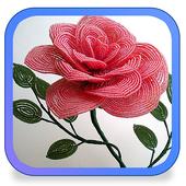 Цветы из бисера icon