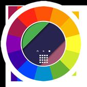 Wallpaper HD color, Multicolor icon