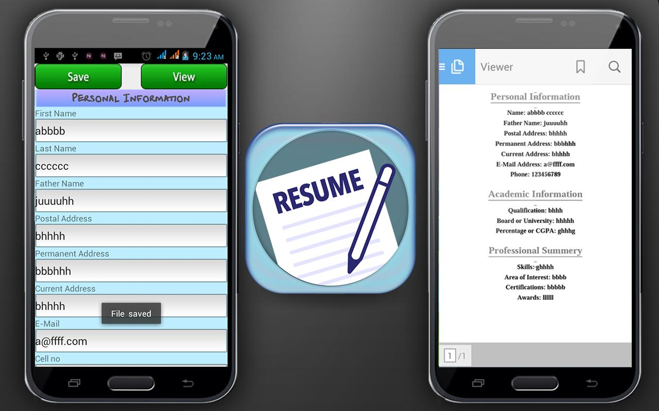 Curriculum Vitae Maker Apk Download Free Education App For Android