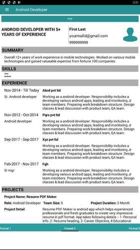 CONSTRUCTOR DE RESUMEN PROFESIONAL for Android - APK Download