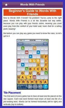 Best Guide for Words Friends apk screenshot