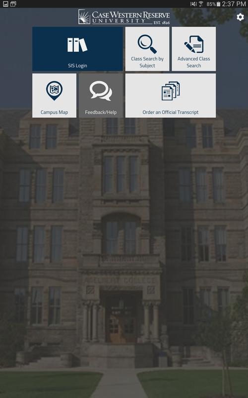Cwru Sis Mobile For Android Apk Download