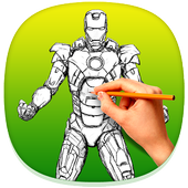 How to Draw Iron Man icon
