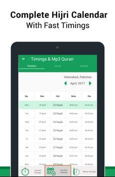 Ramadan Timings & MP3 Quran apk screenshot