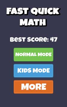 Fast Quick Math - math workout screenshot 6