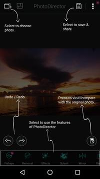 PhotoDirector-Cámara & Editor captura de pantalla de la apk