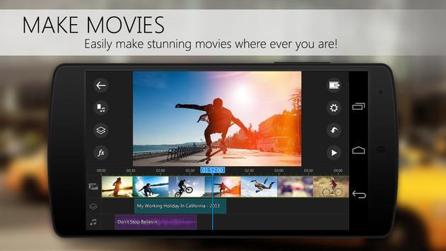 Apl editor vídeo PowerDirector imagem de tela 1