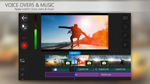 PowerDirector Video Editor App: 4K, Slow Mo & More apk स्क्रीनशॉट