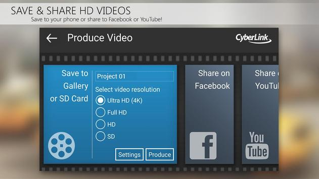 Apl editor vídeo PowerDirector imagem de tela 6