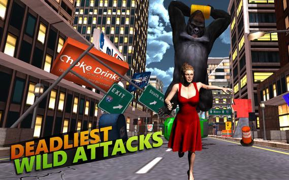 Monkey Kong City Attack 2017 apk screenshot