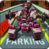 Super Hero Robot Parking icon