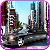 Limo Car Driving City Sim icon