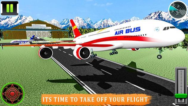 Flying Airplane Pilot Flight 3d Plane Simulator screenshot 12