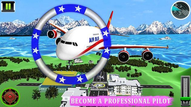 Flying Airplane Pilot Flight 3d Plane Simulator screenshot 13