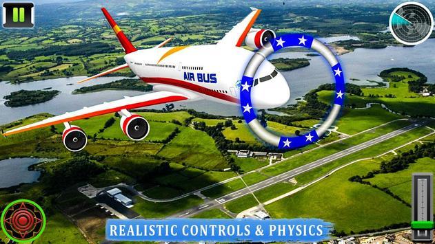 Flying Airplane Pilot Flight 3d Plane Simulator screenshot 5