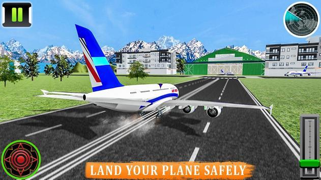Flying Airplane Pilot Flight 3d Plane Simulator screenshot 9