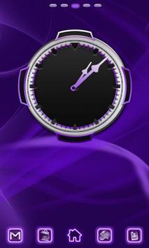Neon Purple Style Clock screenshot 1