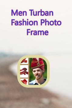 Men Turban Fashion Photo Frame poster