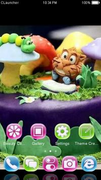 Animal Birthday Cake Theme apk screenshot