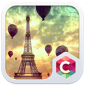 Flying on Eiffel Tower Theme icon