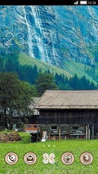 Waterfall Nature Theme HD poster