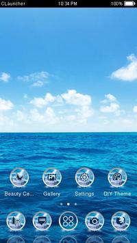 Blue Water Theme C Launcher apk screenshot