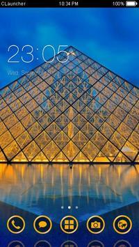 Paris The Louvre Theme poster