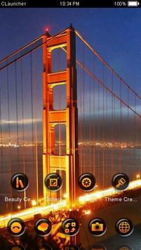 Golden Gate Theme C Launcher apk screenshot