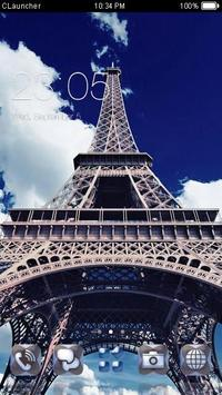 Paris Eiffel Tower Theme poster