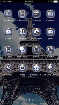 Paris Eiffel Tower Theme apk screenshot