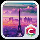 Eiffel Tower Purple Theme icon