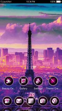 Eiffel Tower Purple Theme apk screenshot