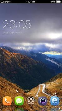 Mountain Landscape Theme poster
