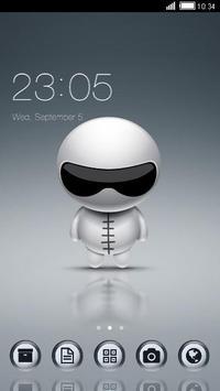 Cute Robot Launcher Theme poster