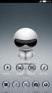 Cute Robot Launcher Theme apk screenshot