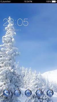 Winter Snow Theme C Launcher poster