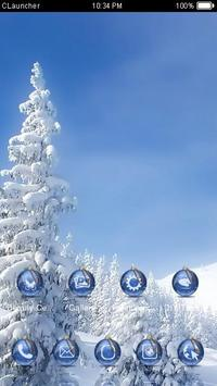 Winter Snow Theme C Launcher apk screenshot
