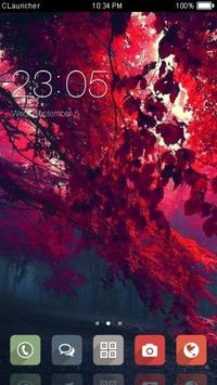 Red Tree Theme C Launcher poster