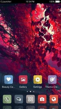 Red Tree Theme C Launcher apk screenshot