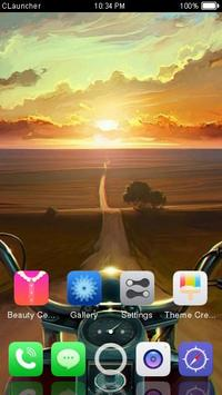Sunset Road Theme C Launcher apk screenshot