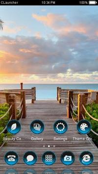 Best Sea Shore Theme CLauncher screenshot 2