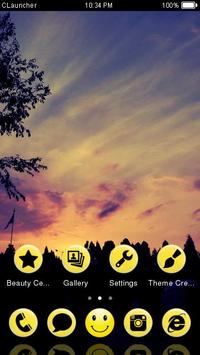 Sunset Sky Theme C Launcher apk screenshot